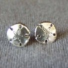 Sterling Silver Sand Dollar Stud Post Earrings