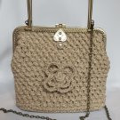 Crochet Knitted BeigeHandbag