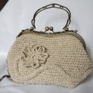 Crochet Knitted White Handbag