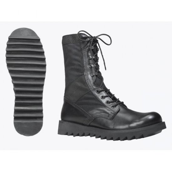 SANKO BLACK RIPPLE SOLE JUNGLE BOOTS 5050