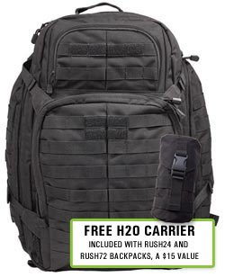 5.11 RUSH 72 Backpack w/ FREE H2O Carrier