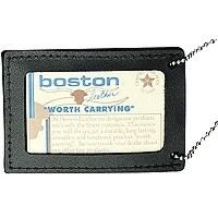 """Boston Leather 3"""" x 4"""" Neck Chain Double ID Holder"""