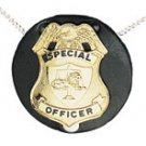 Boston Leather 5841 Round Neck Chain Badge Holder