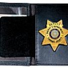Boston Leather Model 110 Book Style Badge Case with Oversized ID Window