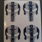 (4) 2 Inch Dallas Cowboys Punisher Vinyl Decal Stickers Yeti Hardhat Cellphone Tablet Laptop 00004