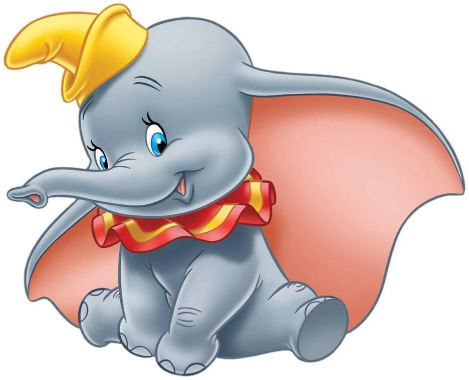 4 Inch Dumbo The Elephant Vinyl Decal Stickers Yeti Hardhat Cellphone Tablet Laptop