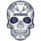 2 Inch Dallas Cowboys Sugar Skull Vinyl Decal Stickers Yeti Hardhat Cellphone Tablet Laptop 00005