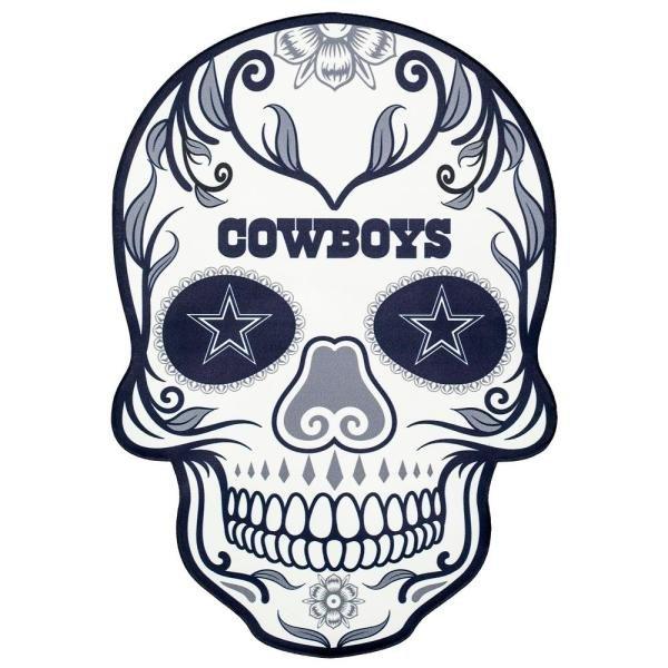 4 Inch Dallas Cowboys Sugar Skull Vinyl Decal Stickers Yeti Hardhat Cellphone Tablet Laptop 00005