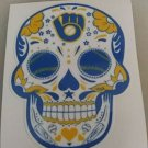 2 Inch Milwaukee Brewers Retro Day Of The Dead Sugar Skull Vinyl Decal Cellphone Hardhat Sticker