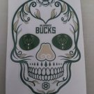 5 Inch Milwaukee Bucks Day Of The Dead Sugar Skull Vinyl Decal Laptop Cellphone Sticker