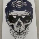 2 Inch Milwaukee Brewers Skull Vinyl Decal Cellphone Hardhat Sticker