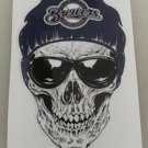 5 Inch Milwaukee Brewers Skull Vinyl Decal Laptop Car Truck Window Yeti Bumper Sticker