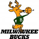 2 Inch Milwaukee Bucks Retro Logo Vinyl Decal Cellphone Hardhat Sticker 00003