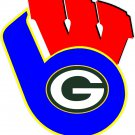 3 Inch Wisconsin Badgers Mashup Superfan Vinyl Decal Milwaukee Brewers Green Bay Packers 00005