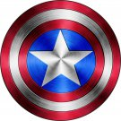 2 Inch Full Color Captain America Shield Vinyl Decal Cellphone Hardhat Yeti Laptop 00009