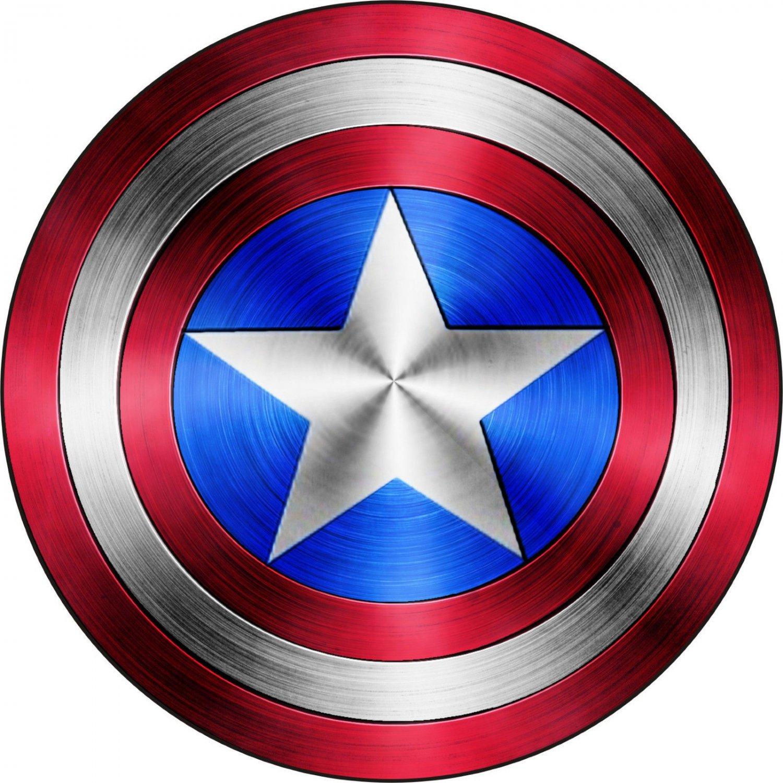 3 Inch Full Color Captain America Shield Vinyl Decal Cellphone Hardhat Yeti Laptop 00009