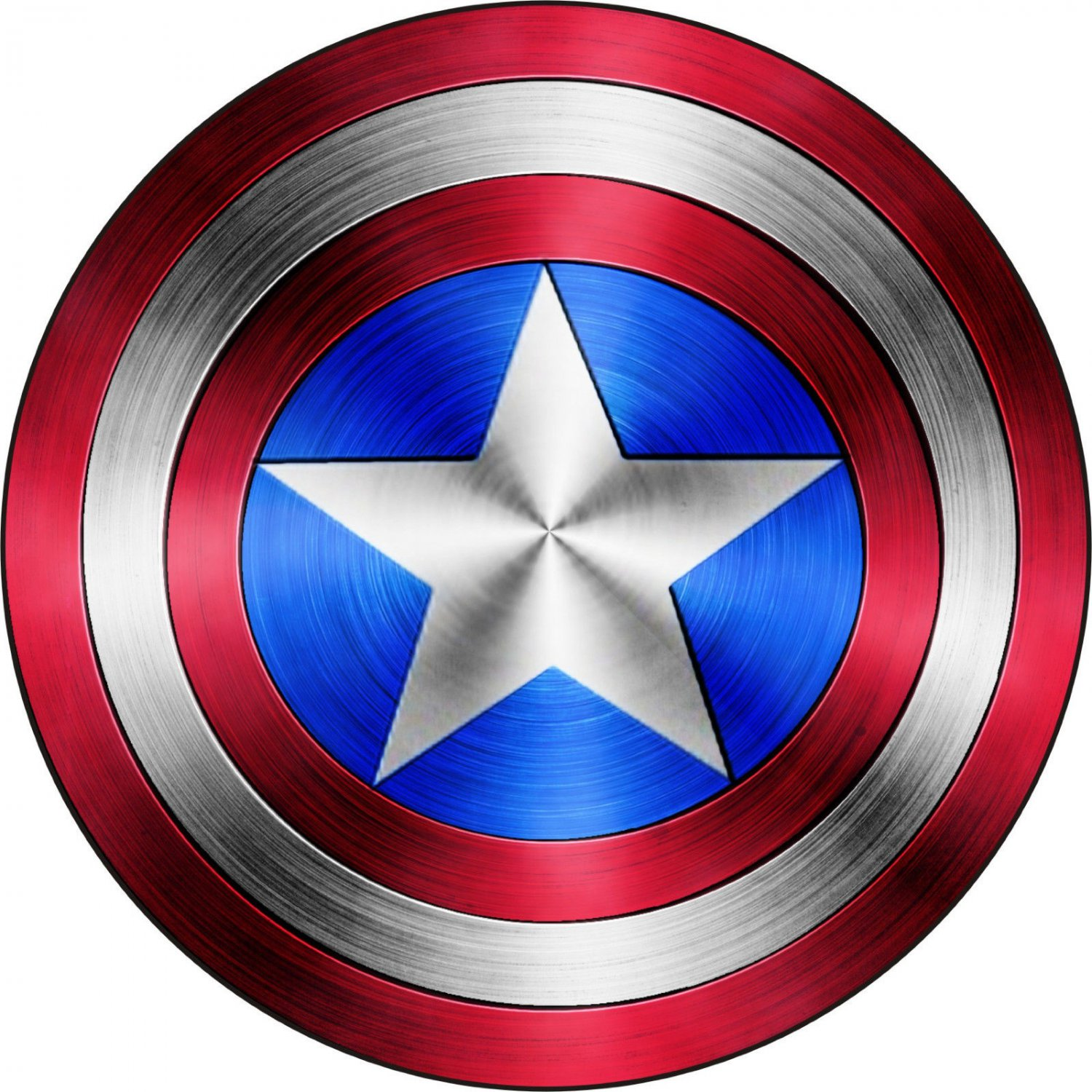 4 Inch Full Color Captain America Shield Vinyl Decal Car Truck Window Sticker Yeti Laptop 00009