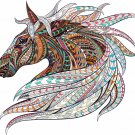 4 Inch Patterned Horse Head Vinyl Decal Car Truck Window Sticker Yeti Laptop 00012