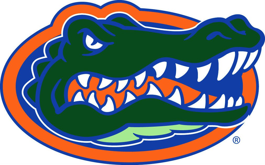 2 Inch Full Color Florida Gators Vinyl Decal Cellphone Hardhat Sticker 00013