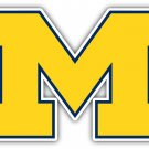 5 Inch Full Color Michigan Wolverines Yellow M Logo Vinyl Decal Yeti Laptop Car Window Sticker 00015