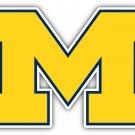5 Inch Full Color Michigan Wolverines Yellow M Logo Vinyl Decal Yeti Laptop Car Window Sticker 00015