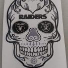 4 Inch Oakland Raiders Sugar Skull Vinyl Decal Stickers Yeti Hardhat Cellphone Tablet Laptop