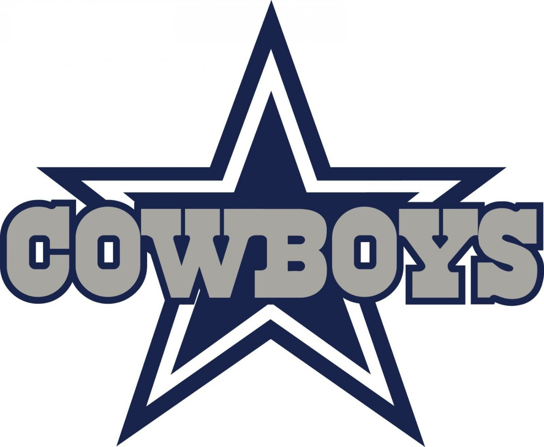 #00023 2 Inch Full Color Dallas Cowboys Thru Star Logo Vinyl Cellphone Decal Hardhat Sticker