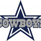 #00023 2 Inch Full Color Dallas Cowboys Thru Star Logo Vinyl Cellphone Decal Hardhat Sticker