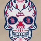 #00019 2 Inch Full Color St Louis Cardinals Sugar Skull Vinyl Cellphone Decal Hardhat Sticker