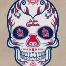 #00019 3 Inch Full Color St Louis Cardinals Sugar Skull Vinyl Yeti Decal Laptop Sticker