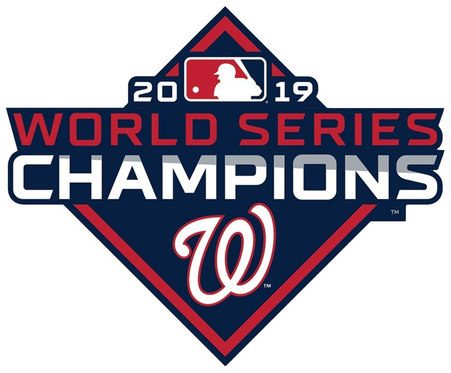 2 Inch Washington Nationals 2019 World Series Champions Vinyl Decal Cellphone Hardhat Yeti Laptop