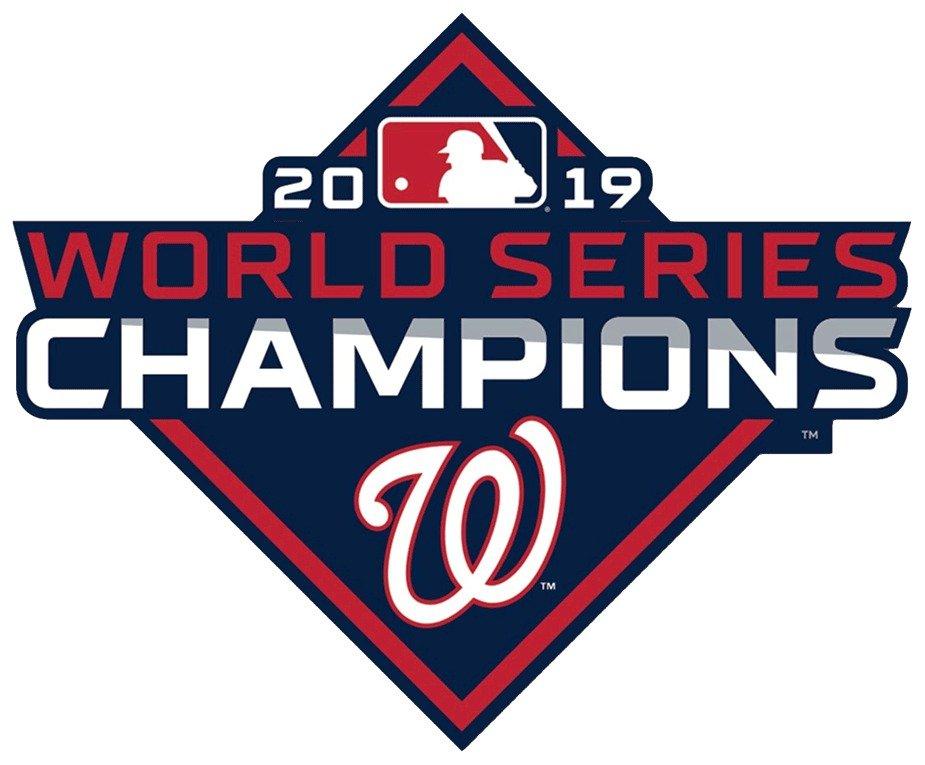 4 Inch Washington Nationals 2019 World Series Champions Vinyl Decal Car Truck Window Yeti Laptop