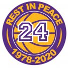 4 Inch Full Color Kobe Bryant Tribute RIP Vinyl Yeti Decal Laptop Car Truck Window Sticker