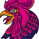 2 Inch Full Color Old School Rooster Vinyl Decal Cellphone Hardhat Sticker