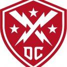(4) 2 Inch Washington DC Defenders XFL Vinyl Decal Stickers Yeti Hardhat Cellphone Tablet Laptop