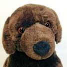 Toys R Us Lab Labrador Puppy Dog Plush Chocolate Brown Stuffed Animal 17""