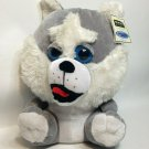 Ideal Toys Direct Siberian Husky Dog Plush Big Eyes White Gray Stuffed Animal