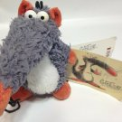"RARE Gunter der Nasenbär Depesche Plush RAT Germany Stuffed Mouse 4.5"" TAG 10cm"