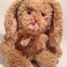 Commonwealth Bunny Rabbit Plush Brown Shaggy Lop Ear Stuffed Animal Soft Doll