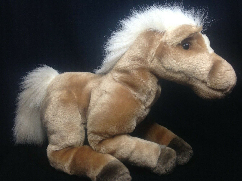 "Manhattan Toy Plush Horse Palomino Arabian Brown Stuffed Animal Pony 12"""