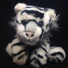 White Siberian Tiger Plush Cat A & A Floppy Bean Bag Stuffed Animal Baby Cub 12""