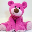 RARE Commonwealth Teddy Bear Pink Berry Pluffy Stuffed Animal Plush Beanie 9""