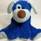 "RARE Commonwealth Puppy Dog Blueberry Floppy Blue Stuffed Animal Plush Beanie 9"""