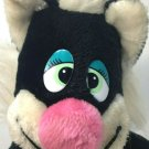 "Brechner Plush Black Cat RARE Vintage Stuffed Animal Kitten Kitty 15"" HTF"