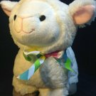 "Animal Adventure White Lamb Sheep Plush Standing Stuffed Animal 2018 Bow 12"""