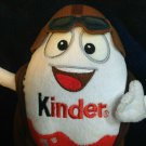 Kinder Egg Plush Chocolate Bag Surprise Toy Kids Mascot Aviator Pilot Guy 7""
