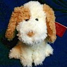 Russ Mylo Puppy Dog Plush Stuffed Shaggy Animal Toy Tan Cream Corduroy Paws NWT