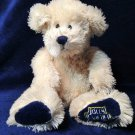 Jolly Rancher Plush Bear Ivory Cream Stuffed Animal Teddy Bean Bag Long Pile 11""