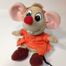 Disney Cinderella Jaq Mouse Plush Grey Bean Bag Beanie Stuffed Toy 8""