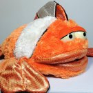 Aurora Clown Fish Neptune Hand Puppet Orange White Plush Stuffed Animal 12""